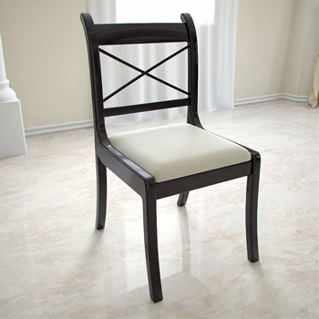European black wood dining chairs 3D Model