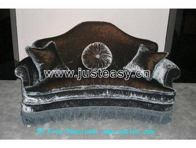 European boss sofa 3D model (including materials)