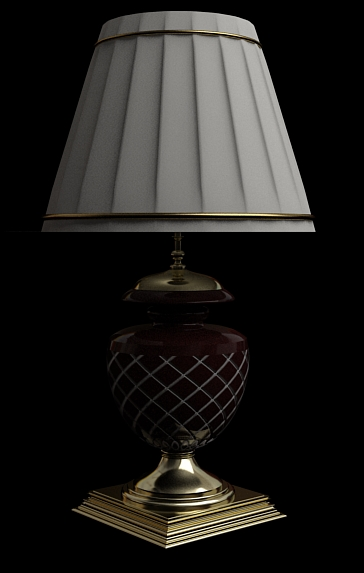 European ceramics lamp 3D models (including material)