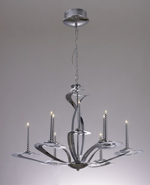 European classical small iron chandelier 3D Model