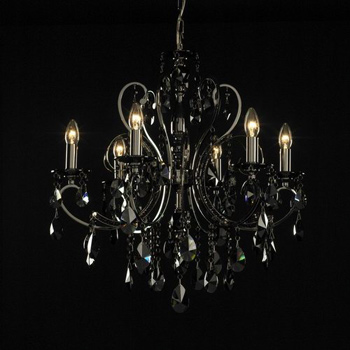 European golden crystal chandeliers 3D Model