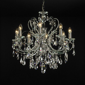 European gorgeous golden chandeliers 3D Model