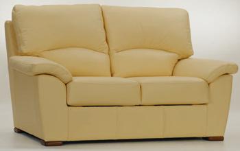 European light double seats fabric sofa 3D Model