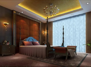 European luxury bedroom scene model 3D Model