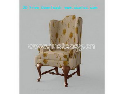 European luxury chair 3D model (including materials)