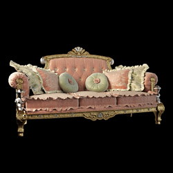 European luxury palace sofa 3D models