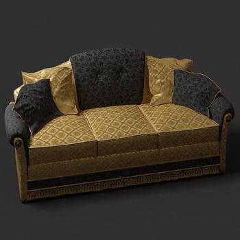European luxury people sofa 3D models