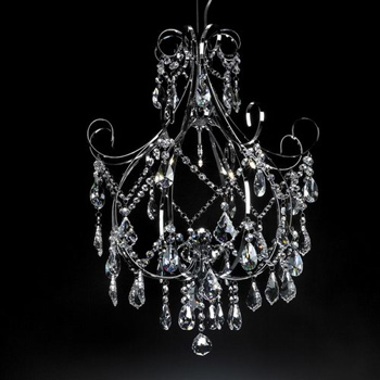 European modern crystal glass chandelier 3D Model