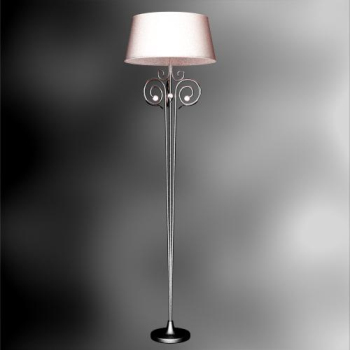 European monomer wrought iron floor lamp 3D Model