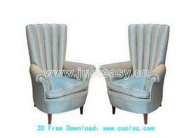 European parlor sofa 3D model (including materials)