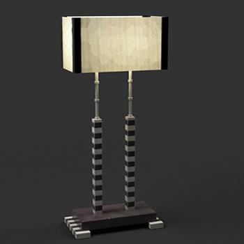 European personality desk lamp 3D Model