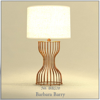 European personality elegant rattan table lamp 3D Model