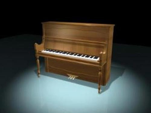 European Piano 3D Model