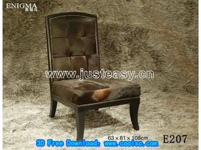 European plush chair 3D Model