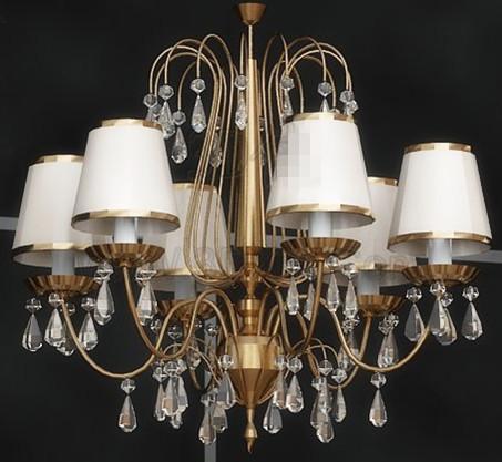 European retro gorgeous pendant lamp 3D Model