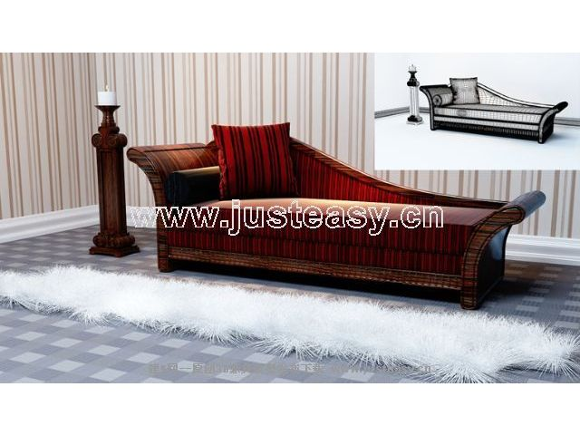 European retro sofa 3D Model