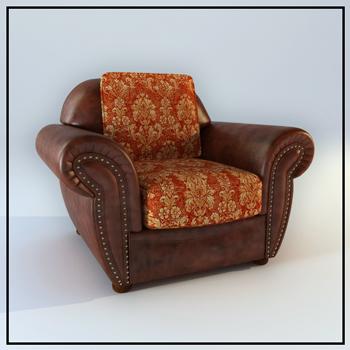 European single coriaceous sofa 3D models