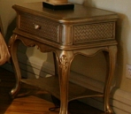 European-style bedside cabinet (with map) 3D Model