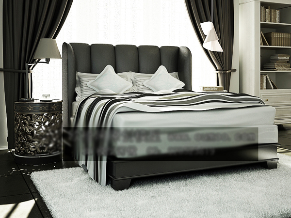 European-style boutique bed together 3D models (including materials)