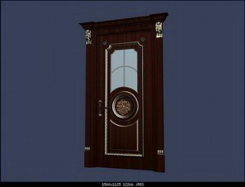 European-style boutique doors 3D Model