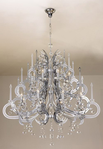 European-style cake layer crystal chandelier 3D Model