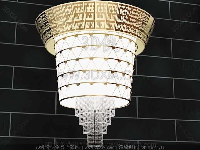 European-style chains chandelier 3D Model