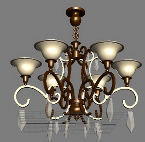 European-style chandeliers Model 1-5 months 3D Model