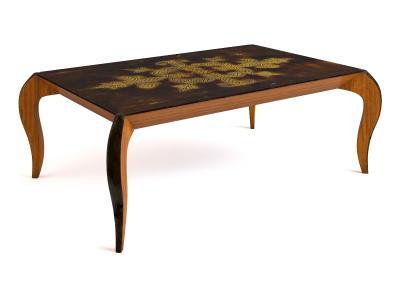 European-style coffee table model 4 3D Model