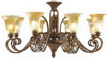 European-style copper lamp 3D Model of Art