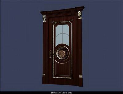 European Style Doors 3 Models 3D Model