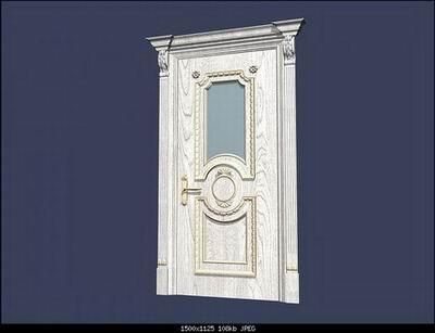 European Style Doors B 3D Model
