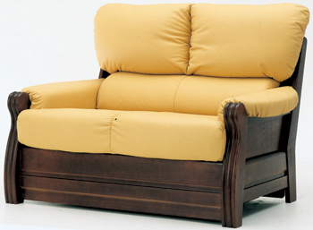 European-style double seats leather sofa 3D Model