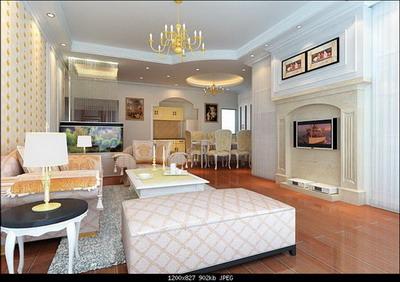 European Style Elite-Class Living-Room 3DsMax Model