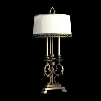 European style Iron base table lamp 3D Model