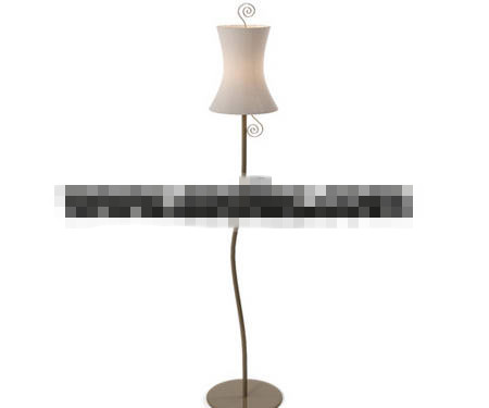 European style iron floor lamp 3D Model