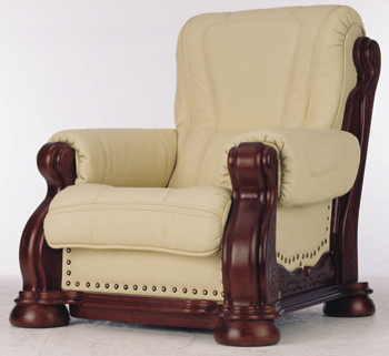 European-style leather armchair 3D Model