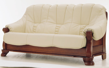 European-style leather sofa -3 3D Model