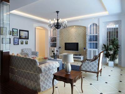 European Style Living Room 3D Model