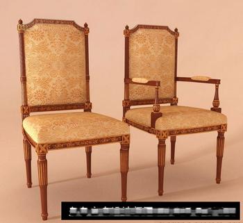 European-style luxury wooden 3D model