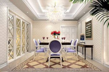 European style modern palace dining room 3D Model