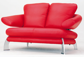 European-style modern red double seats sofa 3D Model