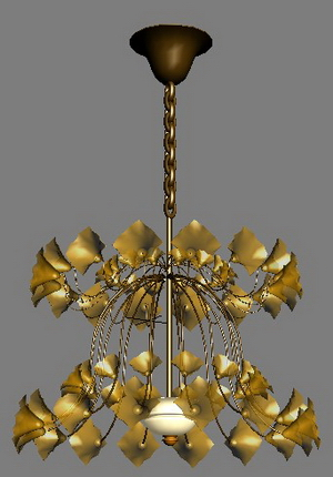 European-style petal lamp Model 4 3D Model
