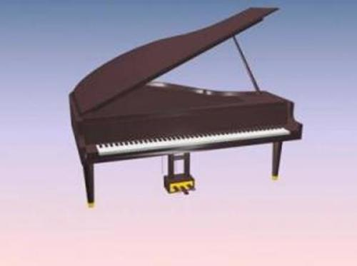 European style Piano 3D Model