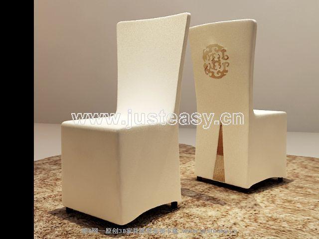 European-style restaurant sofa 3D Model
