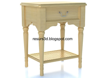 European-style simple cabinet 3D Model