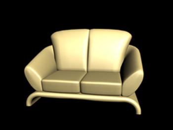European-style single sofa 3D Model
