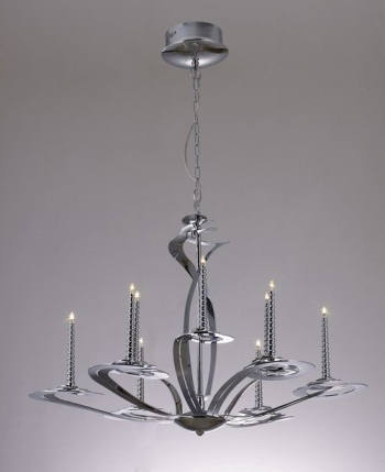 European style small iron chandelier 3D Model