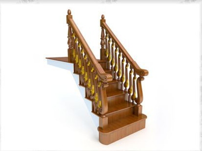 European-style staircase 3D Model