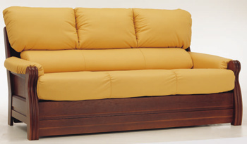 European-style three seats leather sofa 3D Model