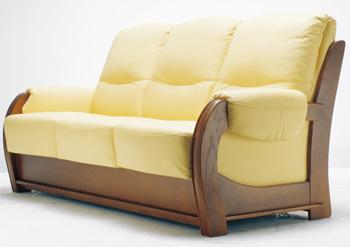 European-style three seats yellow sofa 3D Model
